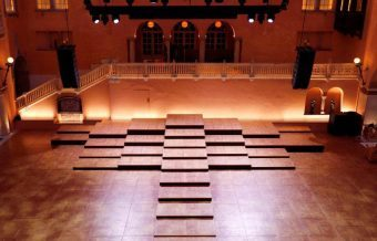 Nobel Prizes are awarded at the Grand Hotel's Winter Garden, with its fully flexible stage managed with lift tables