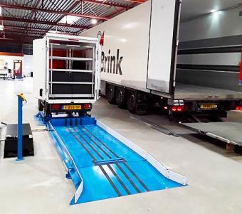 Easy-to-use roll on ramp