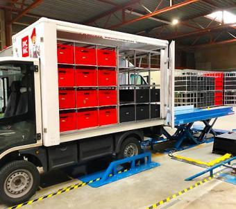Efficient loading of van