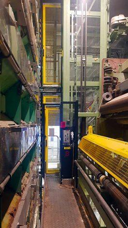 Der Materialtrockner von Andritz mit neuer Arbeitsbühne im
