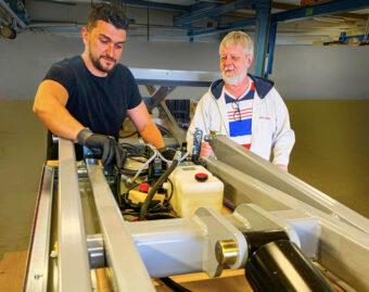 Labinot Mulaj and Flemming Pedersen producing new USM lift tables