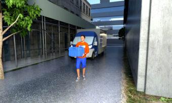 Elfordon är idealiska för leveranser i trånga städer